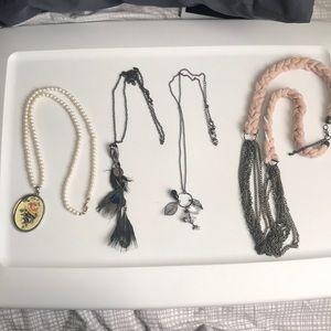 Forever 21 4 necklace bundle